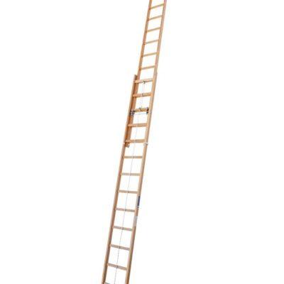 Escalera extensible de madera